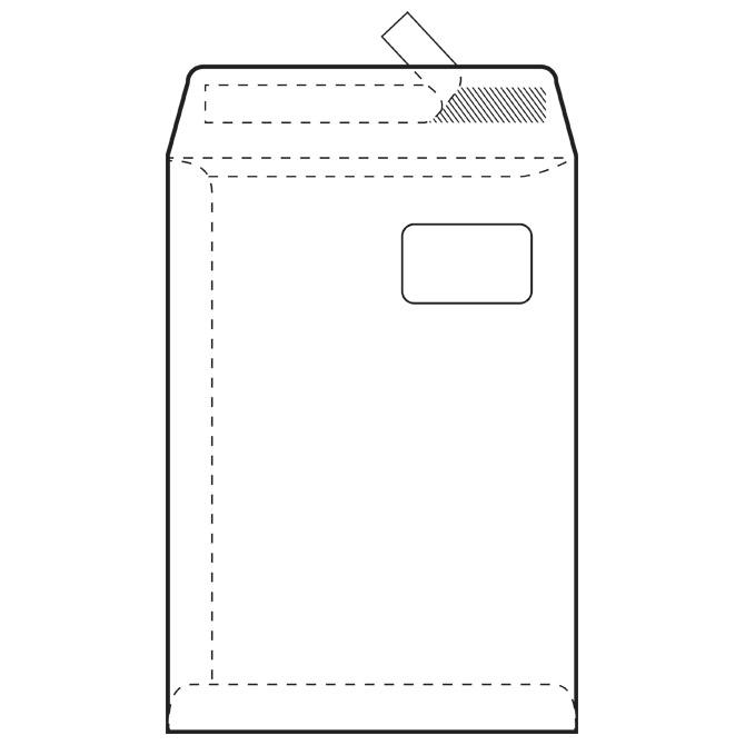 Kuverte - vrećice C4-PD BB strip 90g pk250 Fornax