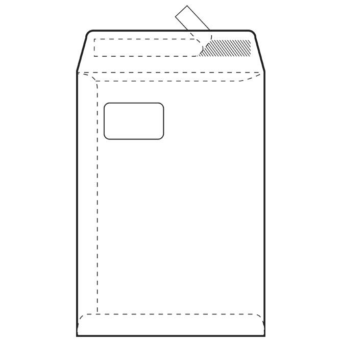 Kuverte - vrećice C4-PL BB strip 90g pk250 Fornax