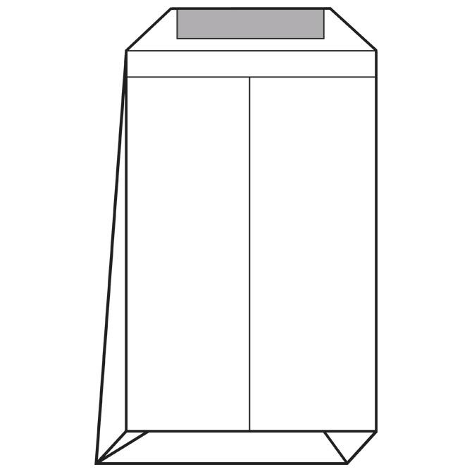 Kuverte - vrećice E4-BB strip križno dno pk250 Lipa Mill 12242