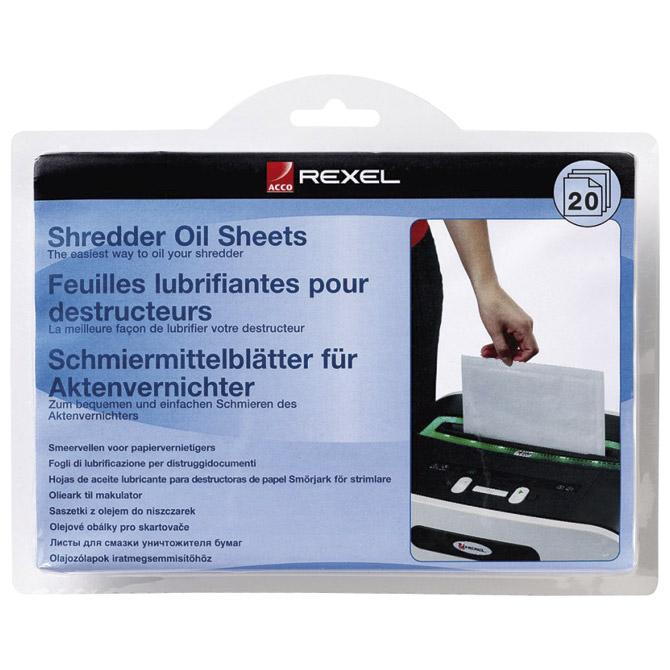 List uljni za podmazivanje uništavača A5 pk20 Rexel 2101949 blister