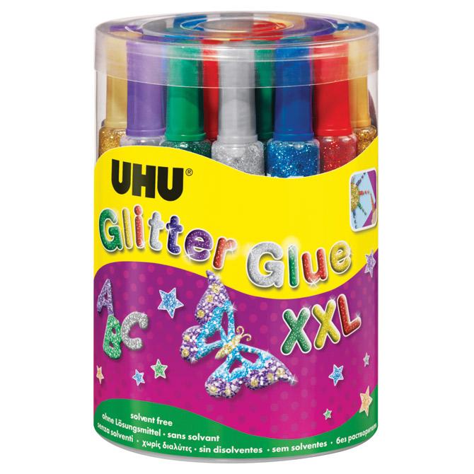 Ljepilo glitter glue 20g pk24 UHU L0180504 sortirano