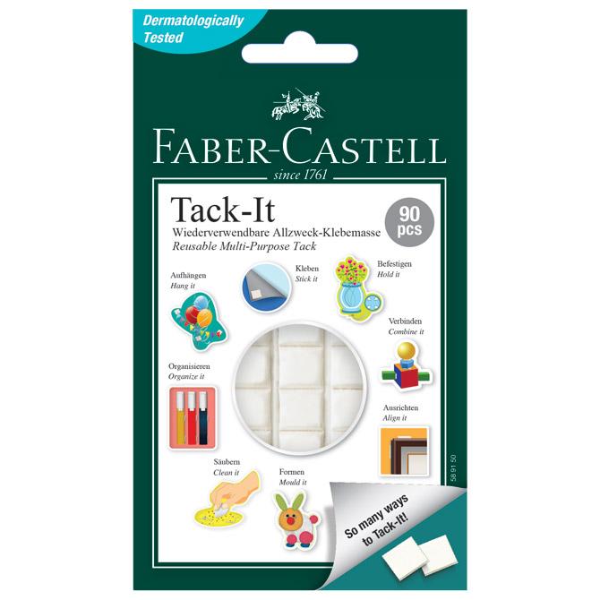 Ljepilo-jastučići 50g 90x Tack-it Faber Castell 589150 bijelo blister