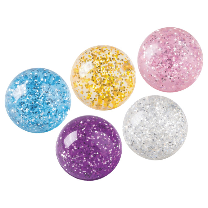 Loptica gumena fi-4cm Glitter Brunnen 10-36683 06 sortirano