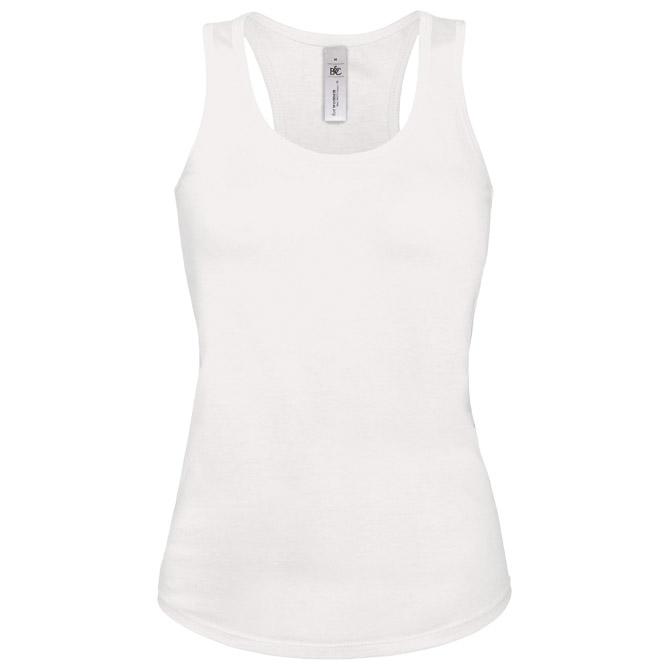 Majica bez rukava ženska B&C Patti Classic 120g bijela S