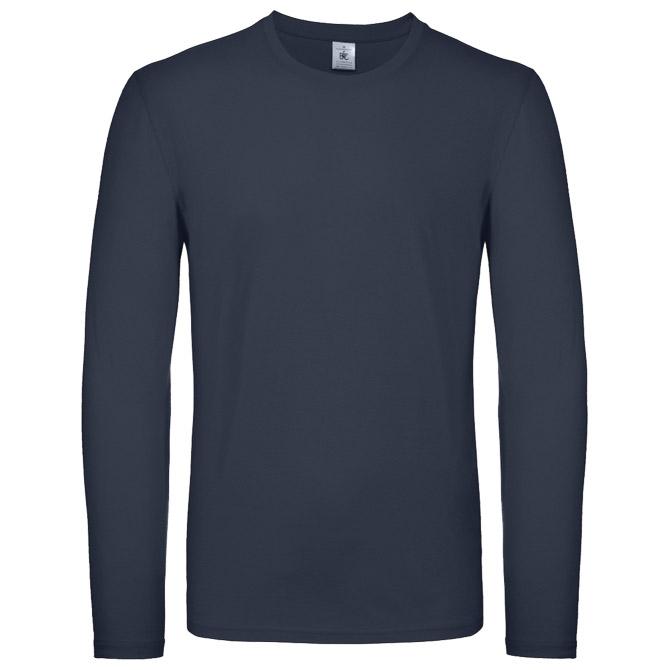 Majica dugi rukavi B&C #E150 LSL tamno plava 3XL