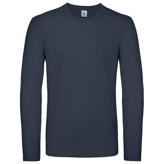 Majica dugi rukavi B&C #E150 LSL tamno plava M