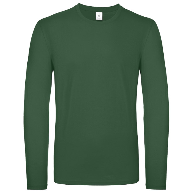 Majica dugi rukavi B&C #E150 LSL tamno zelena L