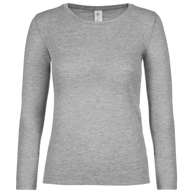 Majica dugi rukavi B&C #E150/women LSL svijetlo siva XL