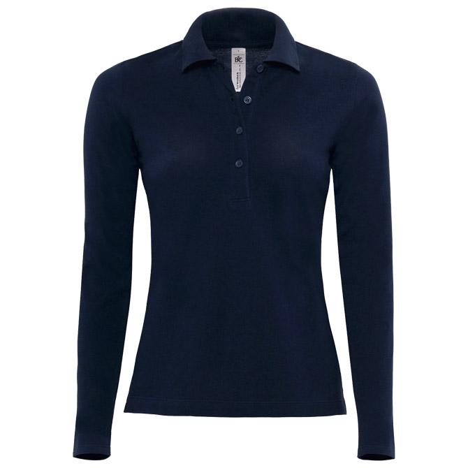 Majica dugi rukavi B&C Safran Pure LSL Women 180g tamno plava 2XL!!