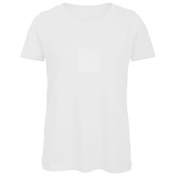 Majica kratki rukavi B&C Inspire T/women 140g bijela L