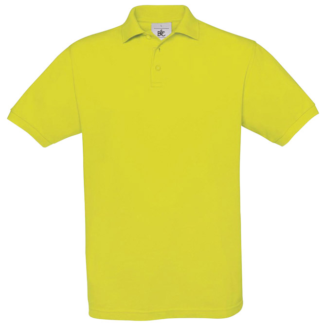 Majica kratki rukavi B&C Safran Polo 180g neon žuta L!!
