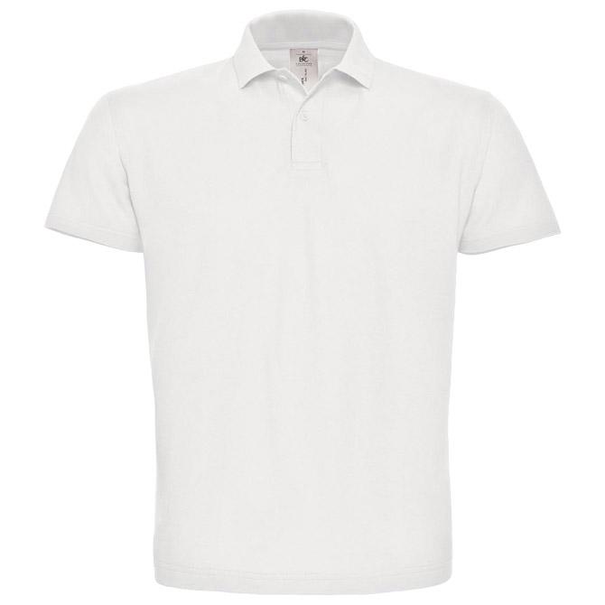 Majica kratki rukavi polo B&C ID.001 180g bijela XS
