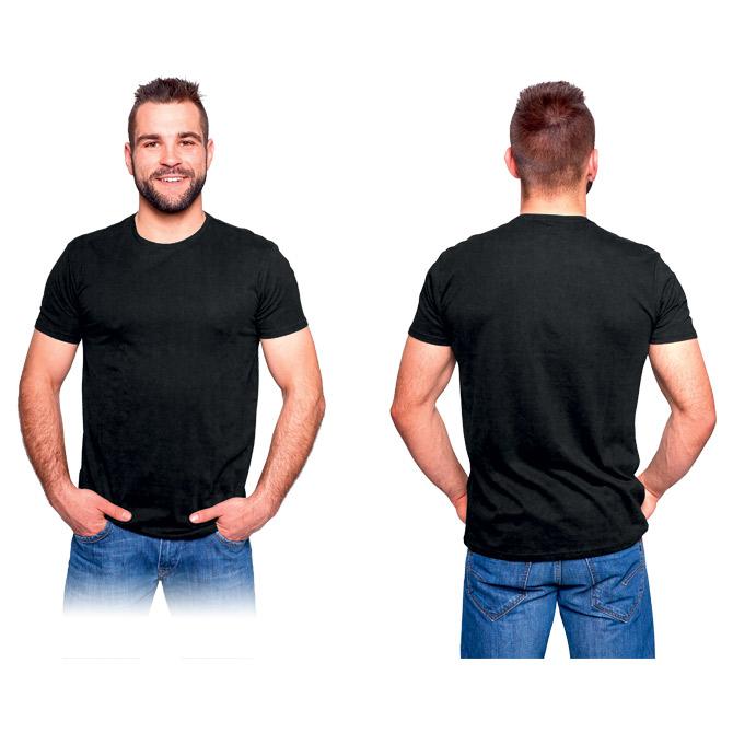 Majica kratki rukavi s elastinom Connect 165g crna S