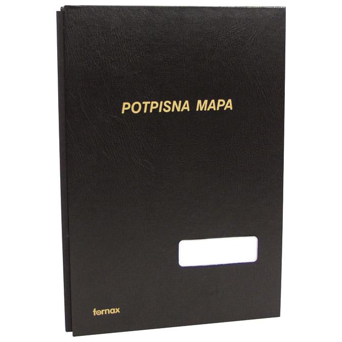 Mapa potpisna s prozorom 3006 Fornax crna