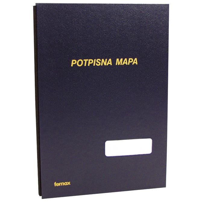 Mapa potpisna s prozorom 3007 Fornax tamno plava