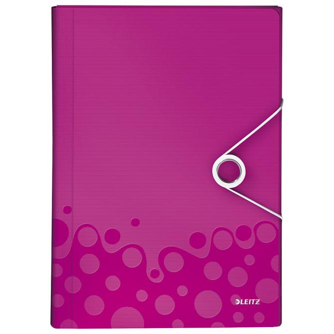 Mapa za kućni budžet  6 pregrada s gumicom pp Wow Leitz 45890123 roza