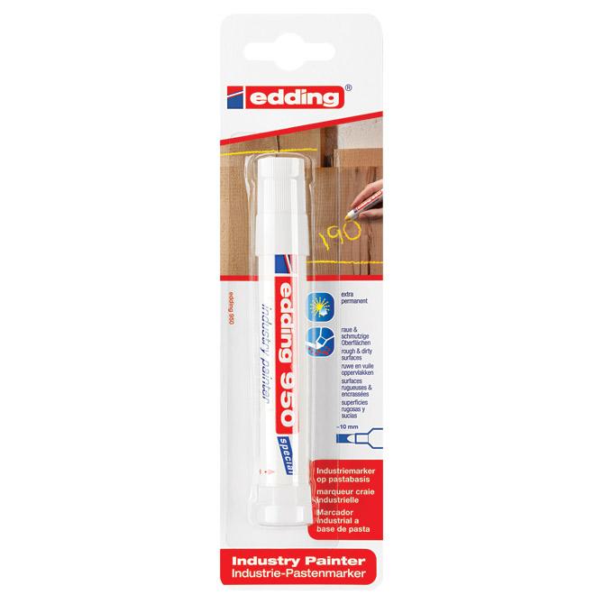 Marker industrijski painter permanentni 10mm Edding 950/1 bijeli blister
