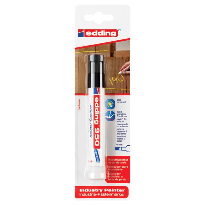 Marker industrijski painter permanentni 10mm Edding 950/1 crni blister