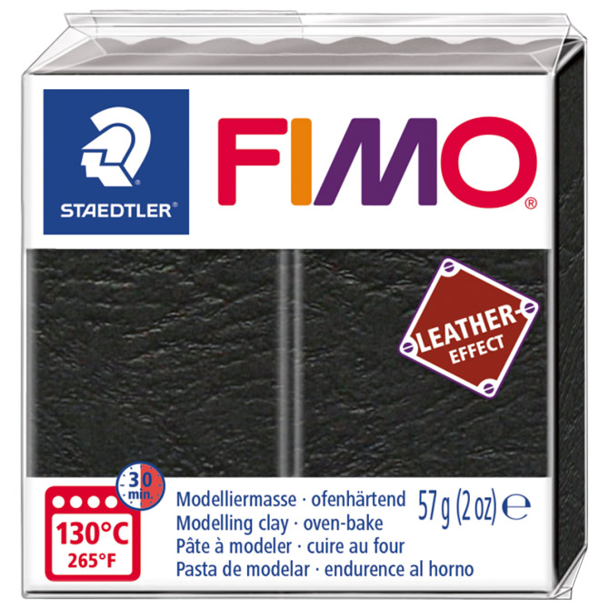 Masa za modeliranje   57g Fimo Effect Leather-effect Staedtler 8010-909 crna
