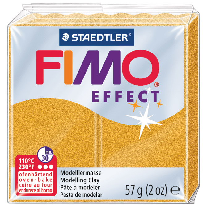 Masa za modeliranje   57g Fimo Effect Staedtler 8020-11 metalik zlatna