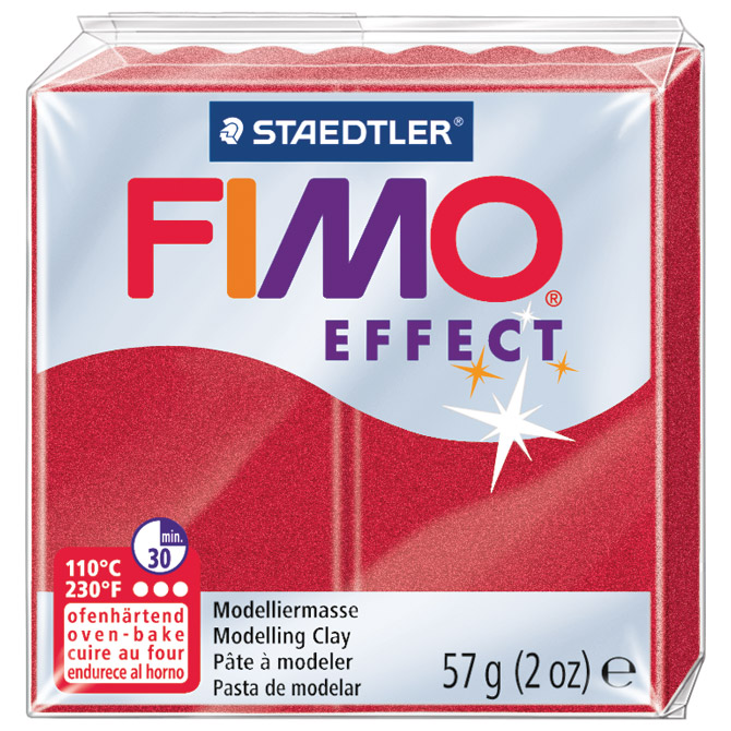 Masa za modeliranje   57g Fimo Effect Staedtler 8020-28 metalik crvena