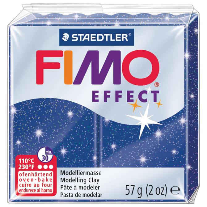Masa za modeliranje   57g Fimo Effect Staedtler 8020-302 glitter plava