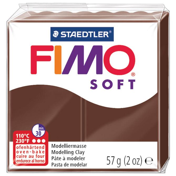 Masa za modeliranje   57g Fimo Soft Staedtler 8020-75 boja čokolade
