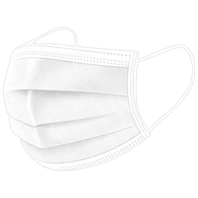 Maska za lice zaštitna jednokratna (za građanstvo) 3-slojna pk10 bijela
