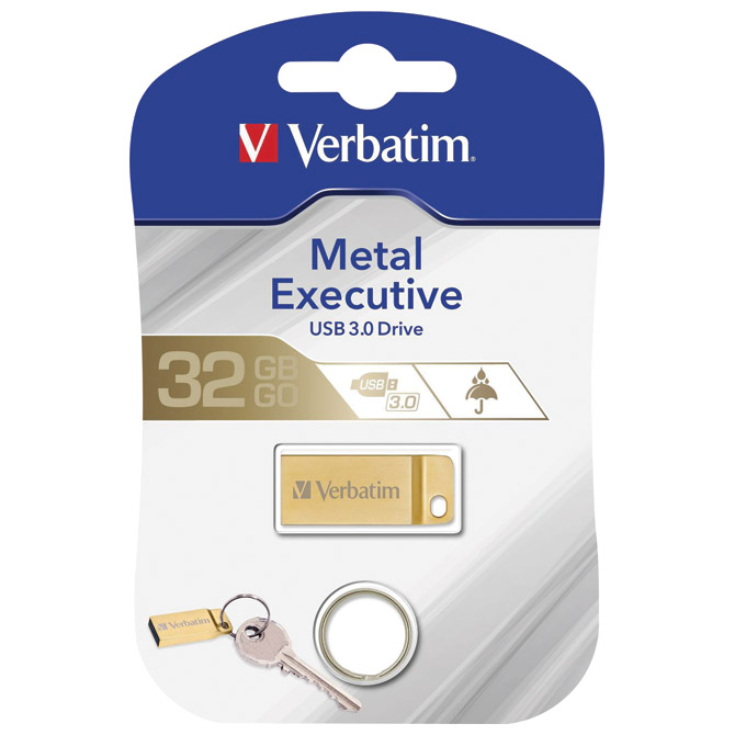 Memorija USB 32GB 3.0 METAL Executive Verbatim 99105 zlatni blister