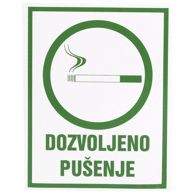 """Naljepnice """"Dozvoljeno pušenje"""" Etikgraf"""