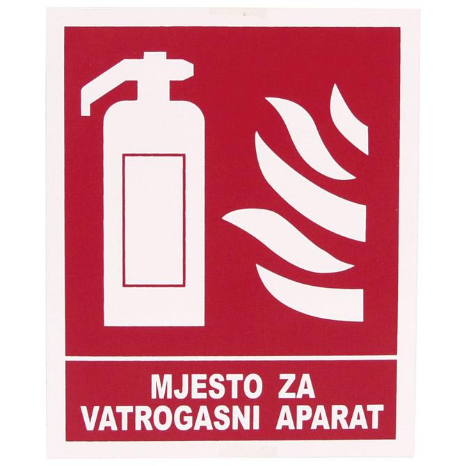 """Naljepnice """"Mjesto za vatrogasni aparat"""" Etikgraf"""