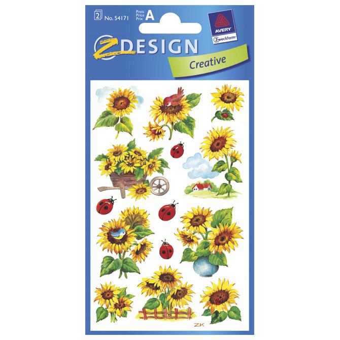 Naljepnice dječje papir suncokret pk2 Zweckform 54171 blister!!