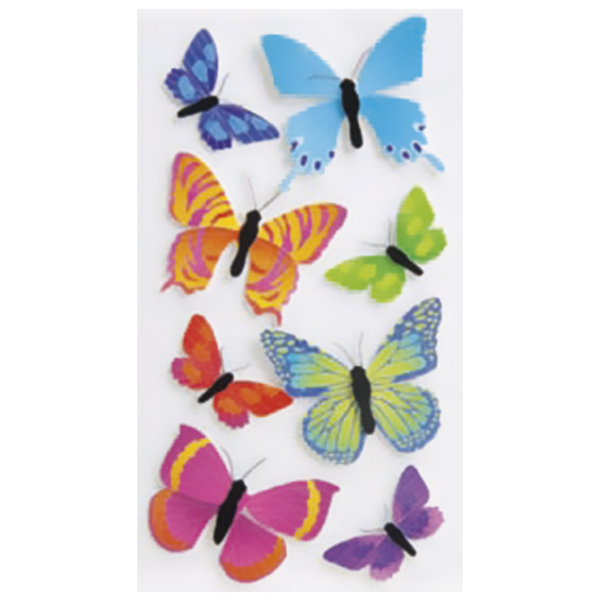 Naljepnice ukrasne 3D Leptiri 2 Heyda 20-37806 88 blister