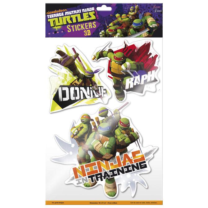 Naljepnice zidne 3D Nindža kornjače 1 Starpak 301093!!