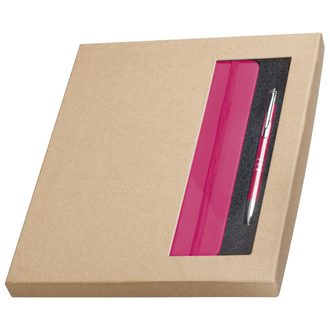 Notes 13x21cm+olovka kemijska u eko pakiranju rozi!!