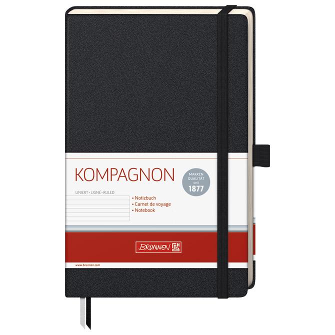 Notes A5 crte 96L  80g s gumicom Kompagnon Brunnen 10-55227 05 crni