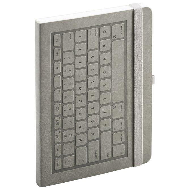 Notes A5 crte 96L  90g s gumicom meki uvez Keyboard Mediaform KE122 sivi!!