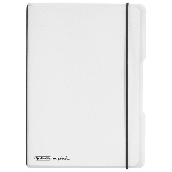 Notes A5 karo 40L s gumicom flexibilan my.book Herlitz 11361516 bijeli!!