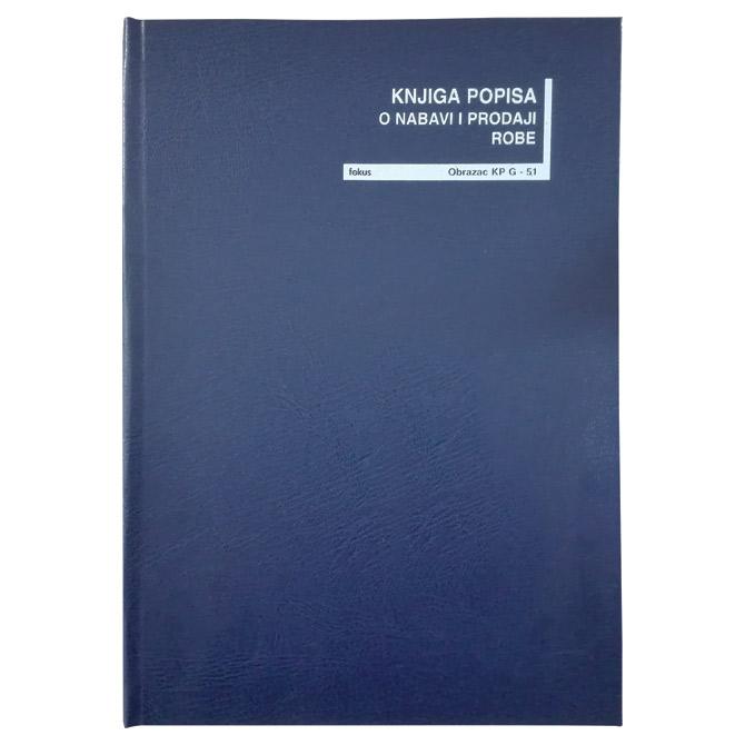 Obrazac G-51 knjiga popisa nabave i prodaje Fokus