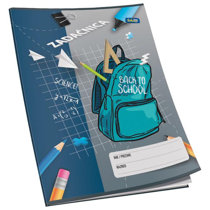 Obrazac školski zadaćnica A4 karo 12L Educa