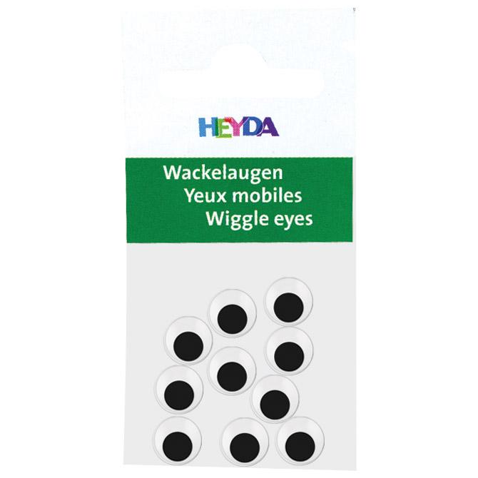Oči pomične 7mm samoljepljive pk10 Heyda 20-48881 07 blister