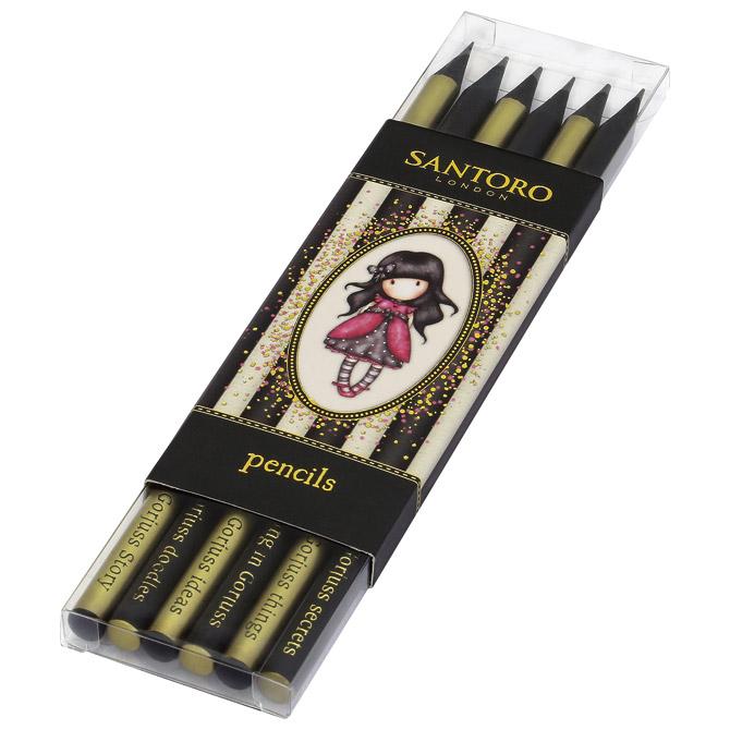 Olovka grafitna HB pk6 Stripe Ladybird Gorjuss 782GJ01!!