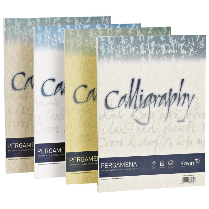 Papir ILK Calligraphy A4 90g pk50 Favini oker