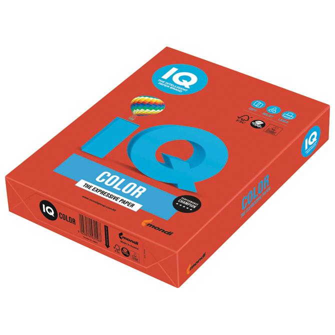 Papir ILK IQ Intenziv A4  80g pk500 Mondi CO44 koraljno crveni