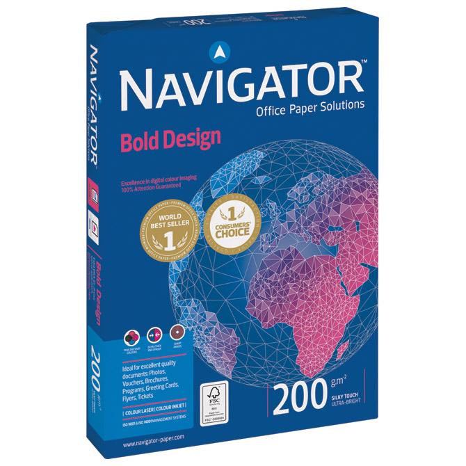 Papir ILK Navigator A4 200g Bold Design pk150 Soporcel
