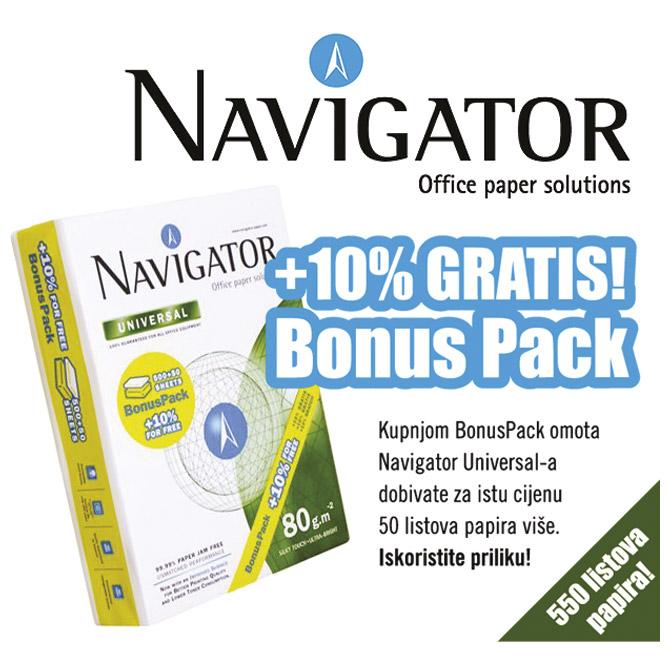 -Papir ILK Navigator A4 80g Universal pk550+bonus-10% gratis (50 listova više)