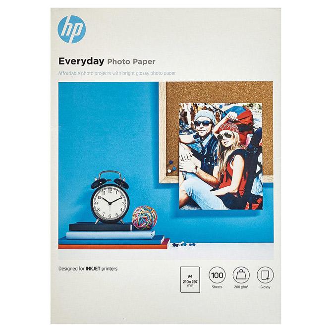 Papir Ink Jet foto sjajni 200g A4 pk100 HP.Q2510A