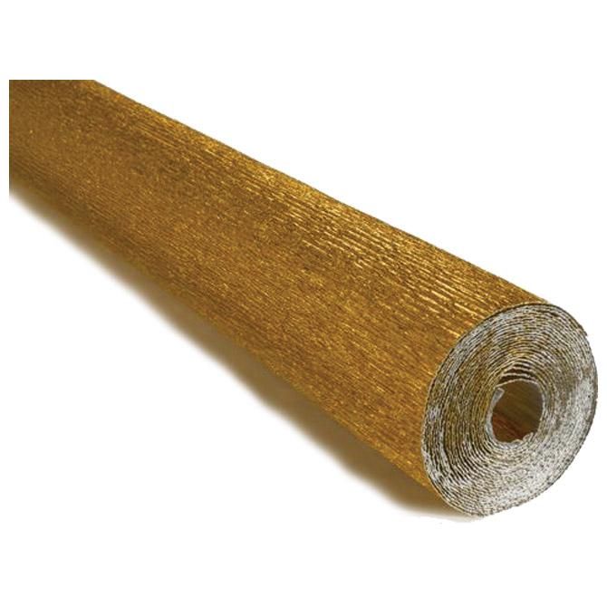 Papir krep 180g 50x250cm Cartotecnica Rossi 801 metalik zlatni