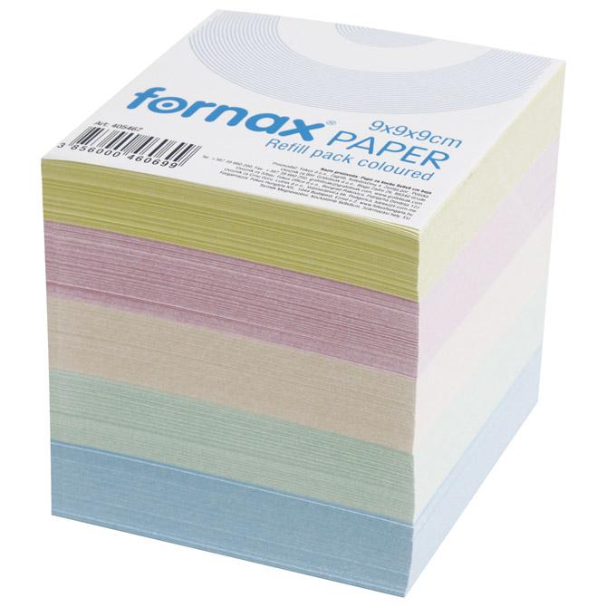 Papir za kocku 9x9x9cm Fornax pastelne boje
