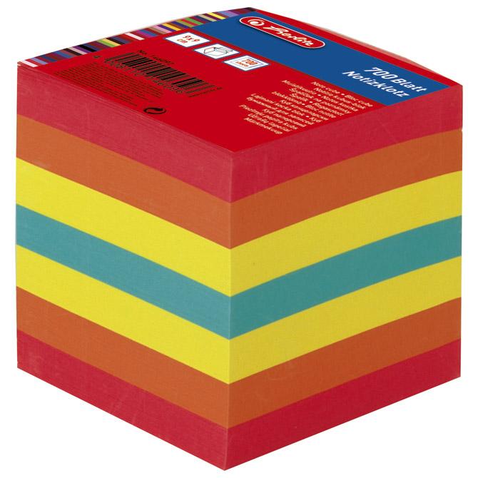 Papir za kocku 9x9x9cm ljepljeni Herlitz 146092 boja
